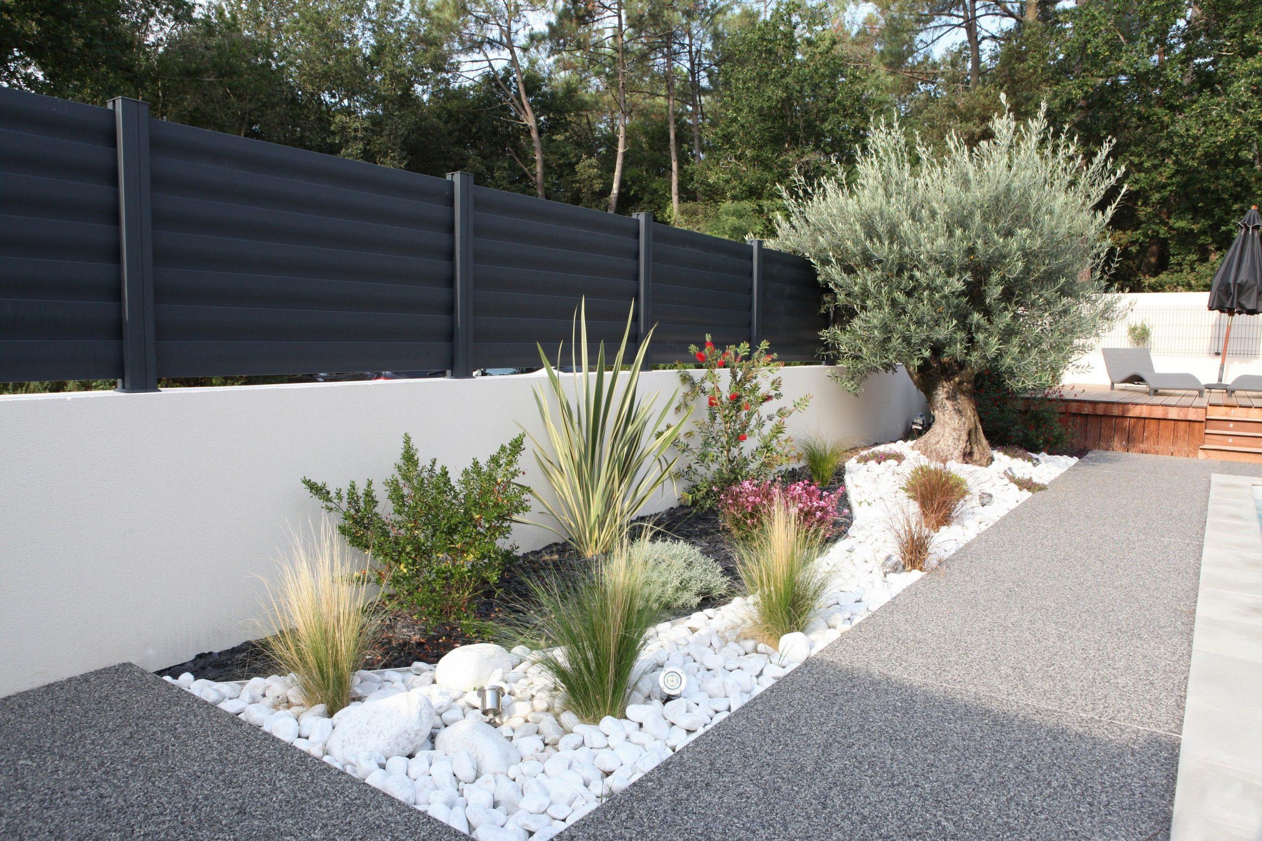 Clôtures Aluminium Modèle Brise Vue #menuiserie #cloturel ... serapportantà Modeles Jardins Avec Galets