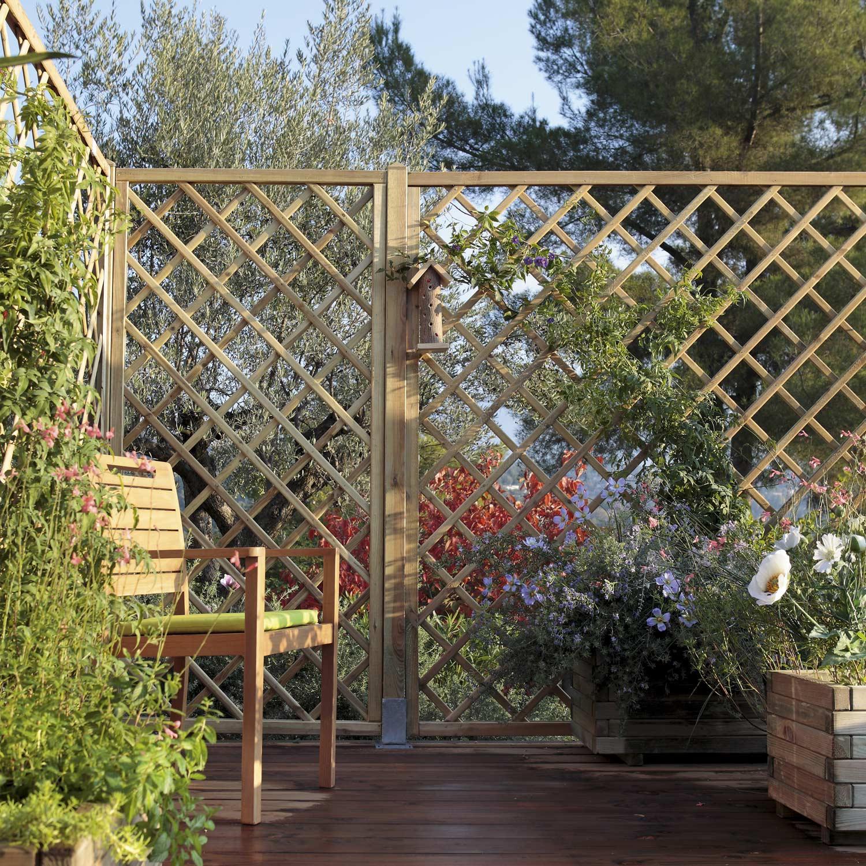 Clôtures De Jardin Jardin, Terrasse Brise-Vue, Brise-Vent ... concernant Pare Vue Jardin