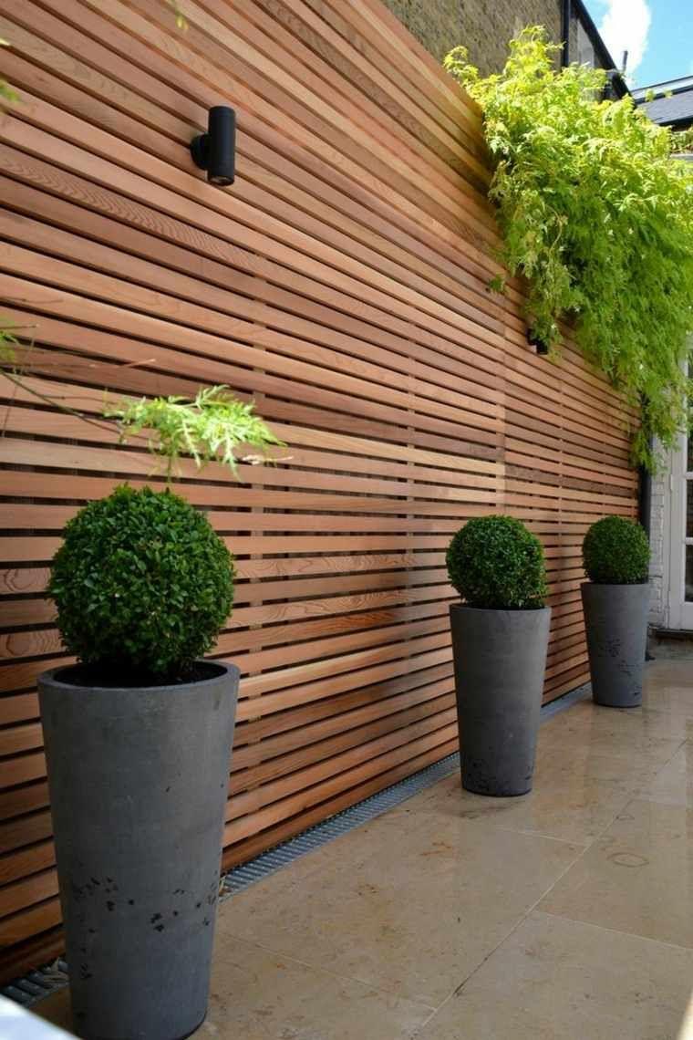 Clôtures Et Palissades De Jardin Modernes | Jardins En Bois ... à Palissade Jardin Pas Cher