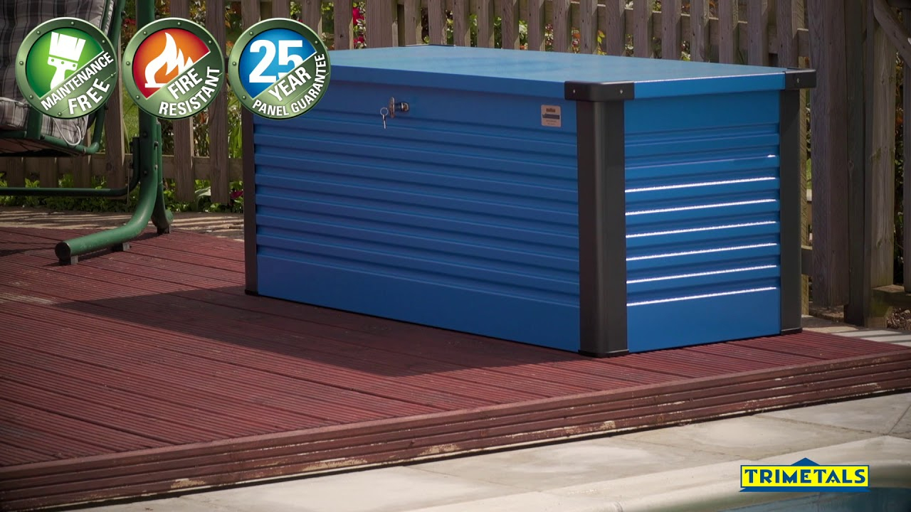 Coffre En Métal Patio Box De Trimetals intérieur Trimetals Abri Jardin
