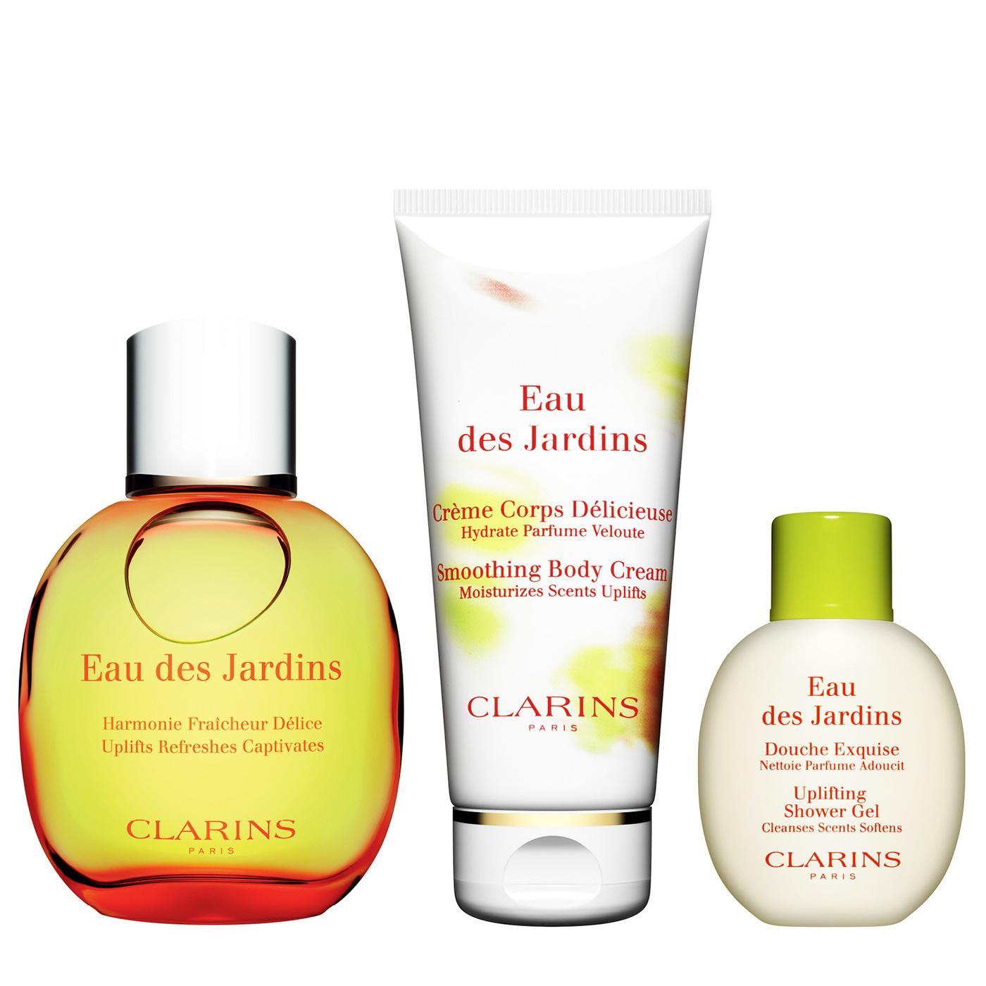 Coffret Eau Des Jardins Par Clarins | Clarins Skincare ... encequiconcerne Eau De Jardin Clarins