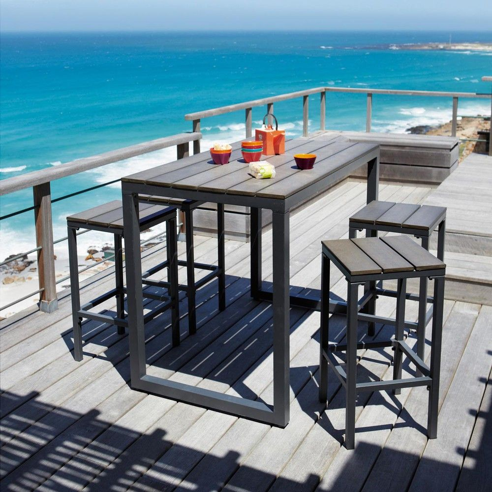 Coin Repas | Table De Jardin, Chaise Salon De Jardin Et ... avec Salon De Jardin Table Haute