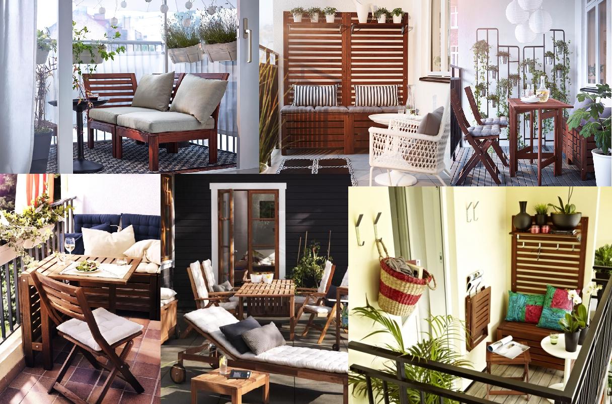 Collage Of Ikea Applaro Patio Deck Furniture | Patio ... tout Bar De Jardin Ikea