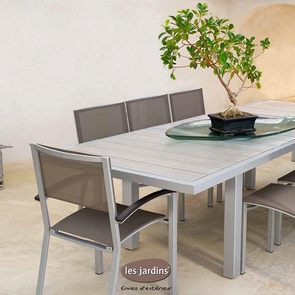 Collection Dripper - Table Extensible Aluminium Avec Lattes ... intérieur Table Jardin Ceramique