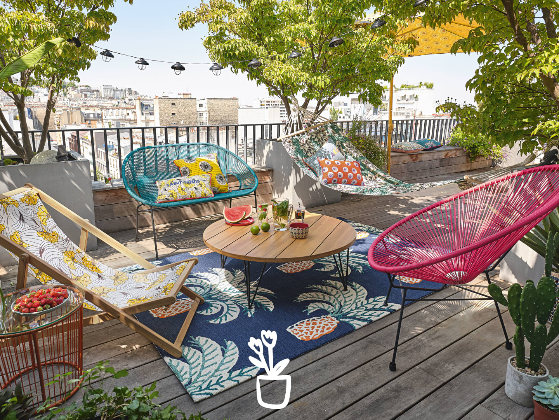 Collection Jardin 2020 | Maisons Du Monde encequiconcerne Salon De Jardin Table Haute