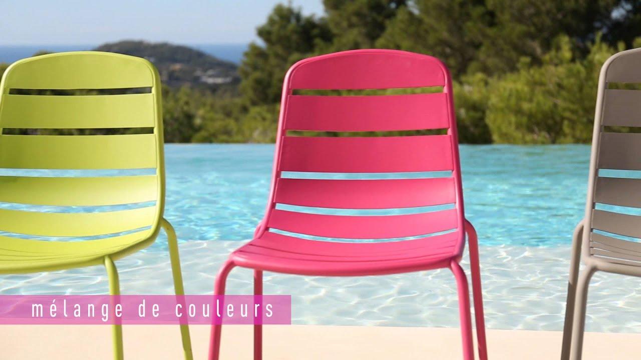 Collection Mobilier De Jardin 2016 Hyba Chez Carrefour : La Ligne Acier 151 serapportantà Table Et Chaise De Jardin Carrefour