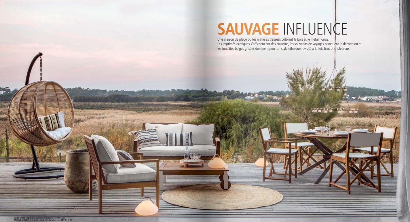 Collection Sauvage Influence, Catalogue Ampm Printemps Été ... intérieur Salon De Jardin Gifi Catalogue