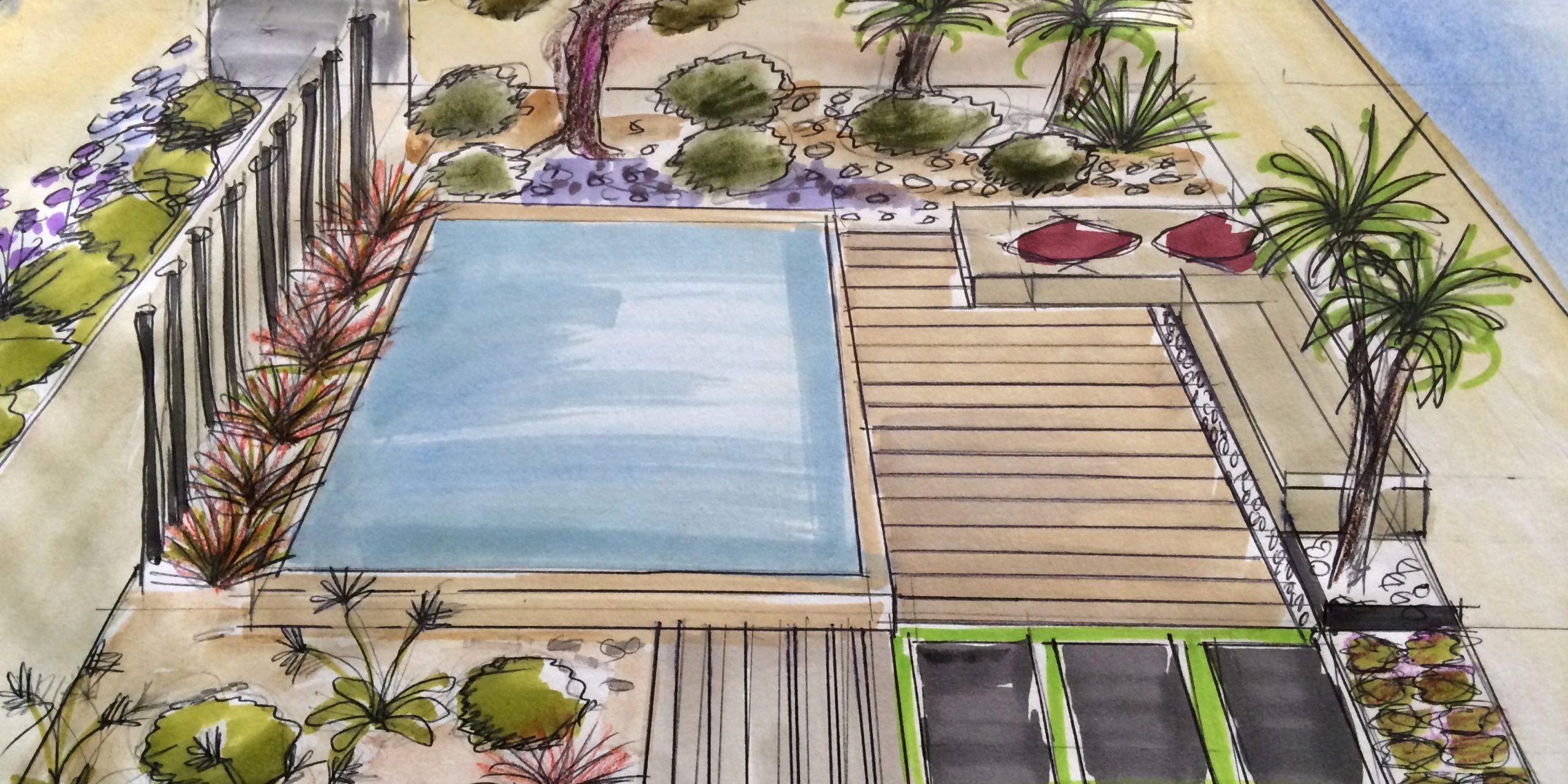 Comment Aménager Un Petit Jardin De Moins De 100 M² Avec Une ... intérieur Aménagement D Un Petit Jardin De Ville