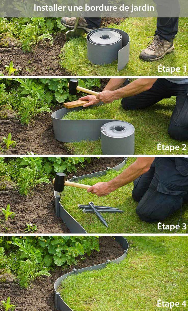 Comment Aménager Une Bordure De Jardin En Pvc ? Jardin encequiconcerne Comment Faire Bordure De Jardin