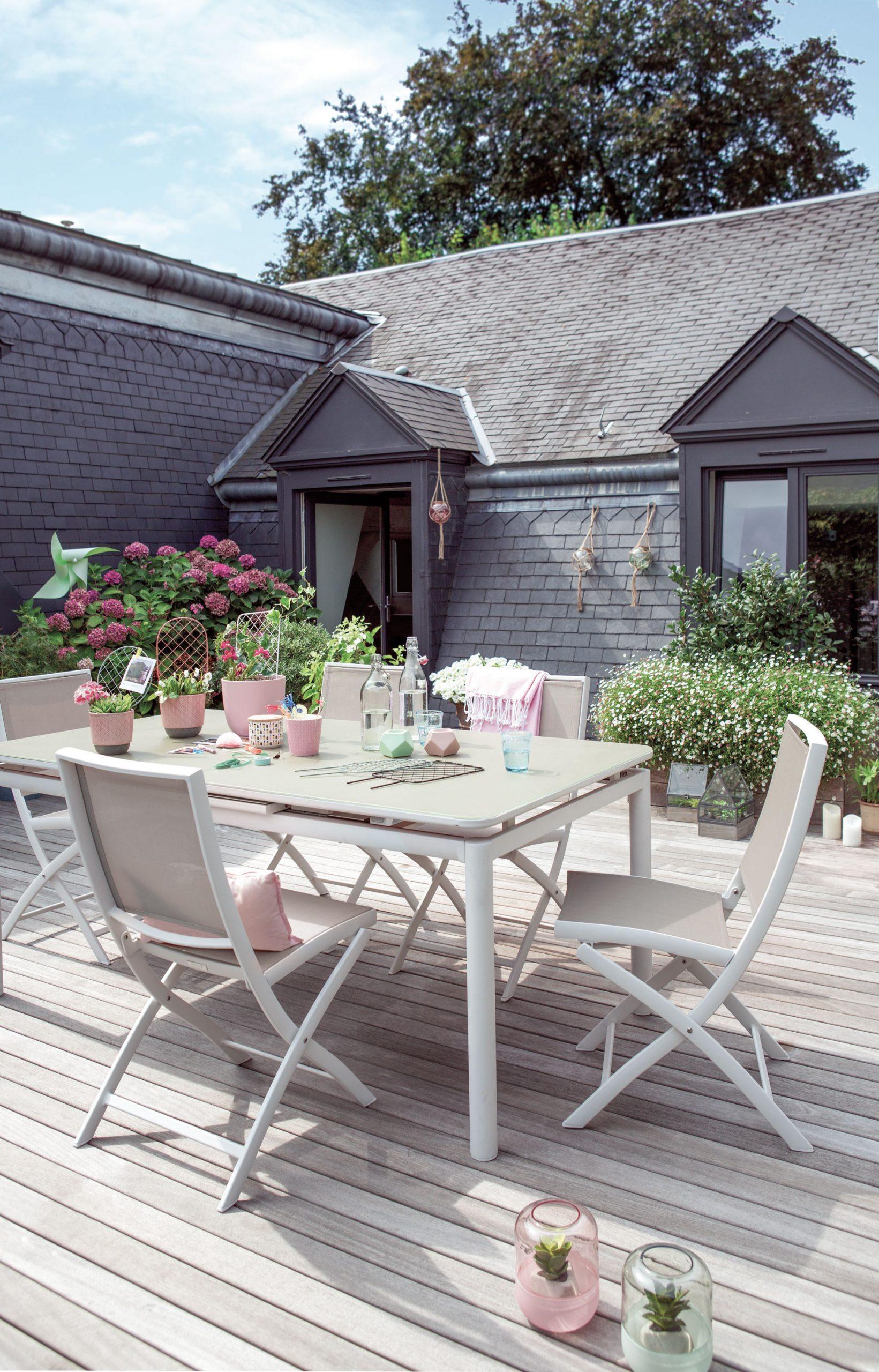 Comment Aménager Une Terrasse ? tout Table De Jardin Aluminium Jardiland