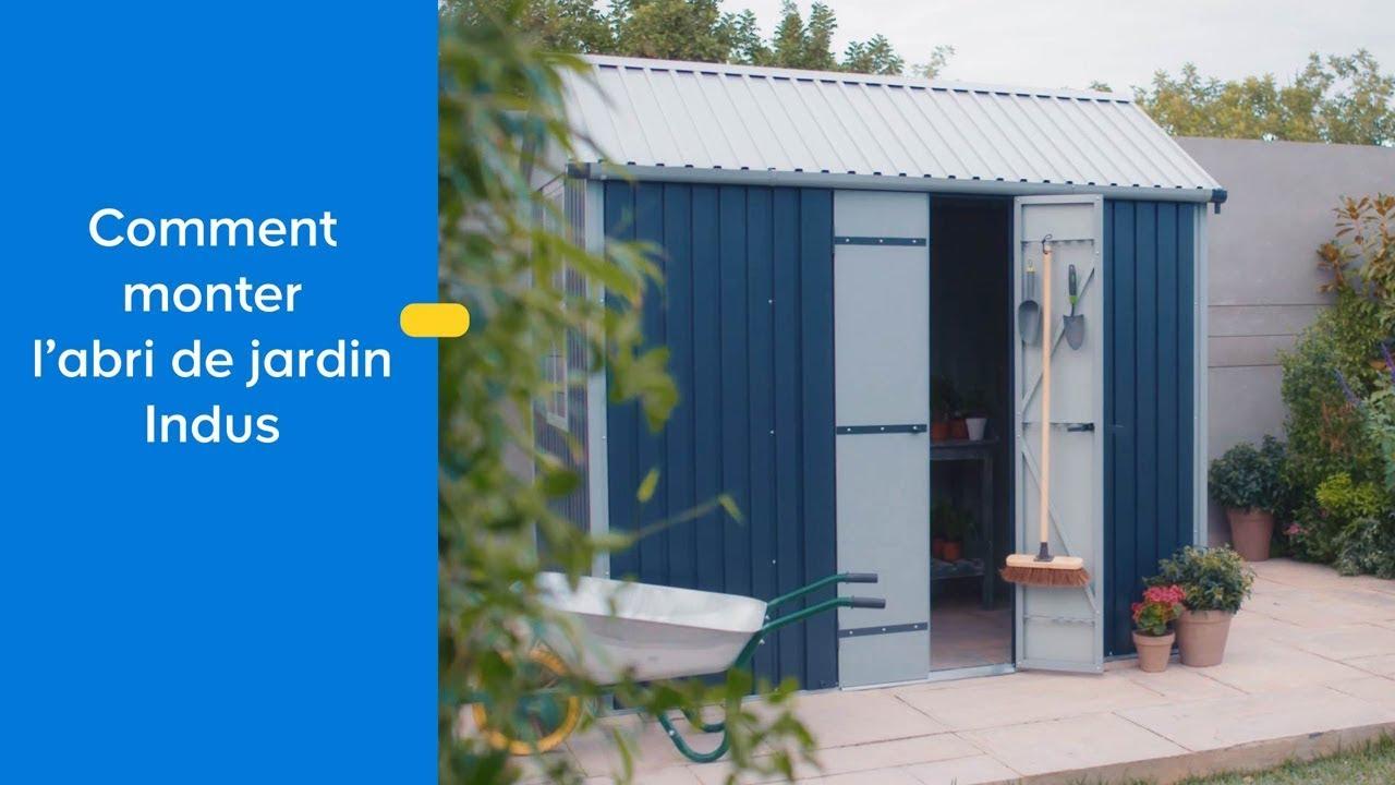 Comment Assembler L'abri De Jardin En Métal Indus Blooma - Castorama dedans Cabane De Jardin Castorama