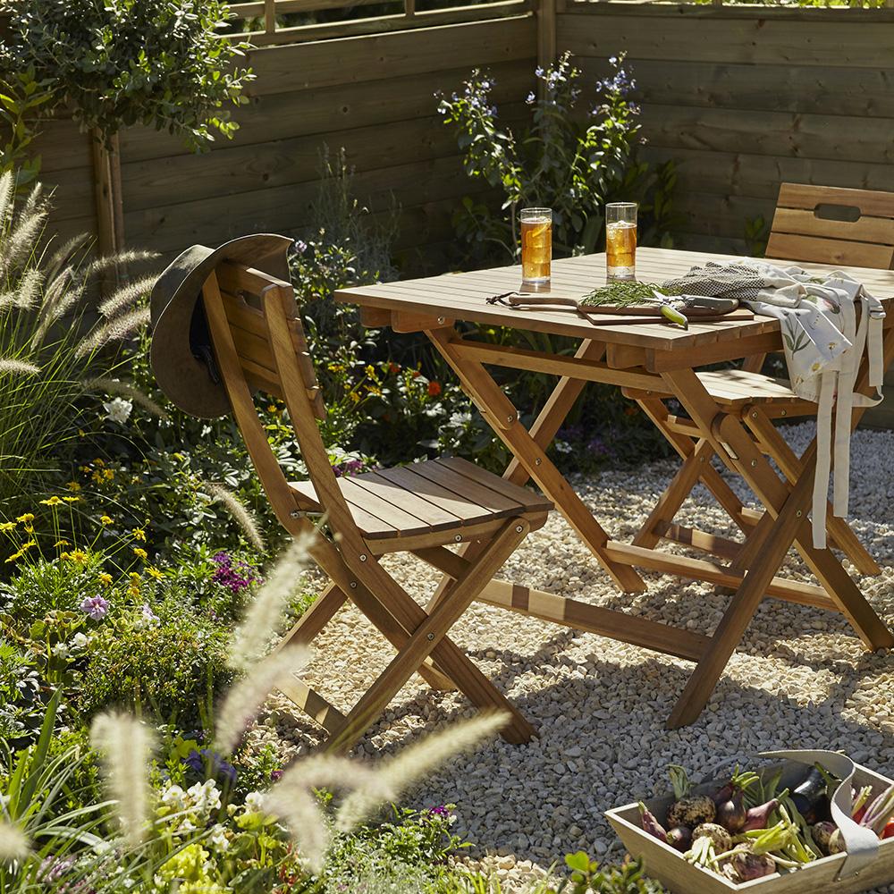 Comment Choisir Du Mobilier Pour Un Petit Jardin, Terrasse ... à Coffre De Jardin Castorama