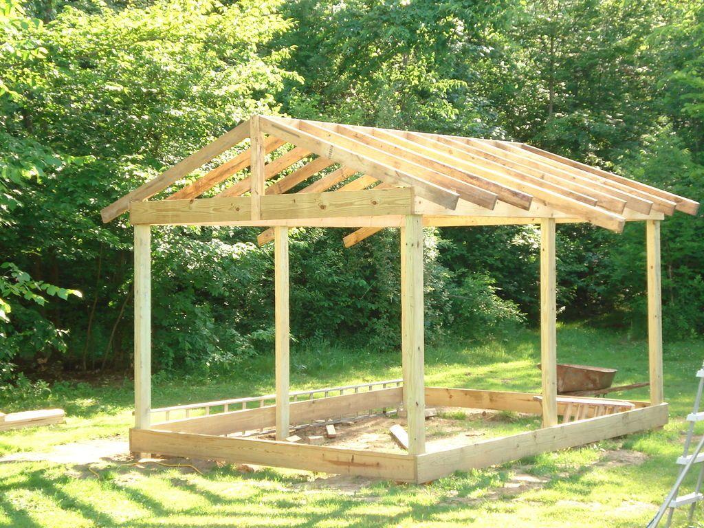 Comment Construire Une Cabane 12×20 (3.6X6M) Pas Cher ... intérieur Construire Une Cabane De Jardin