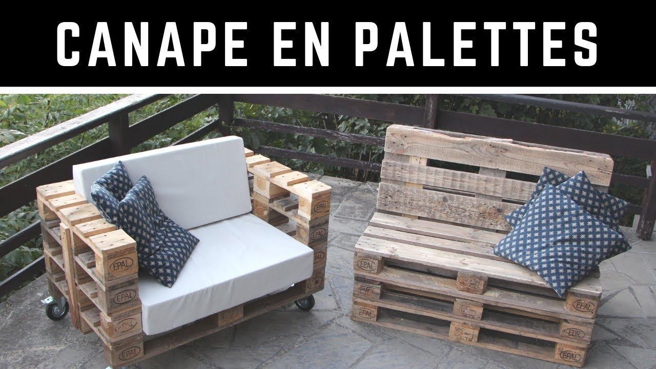 Comment Fabriquer Un Canapé En Palette Avec Un Dossier Incliné ? Version  Complète ! à Canapé De Jardin En Palette