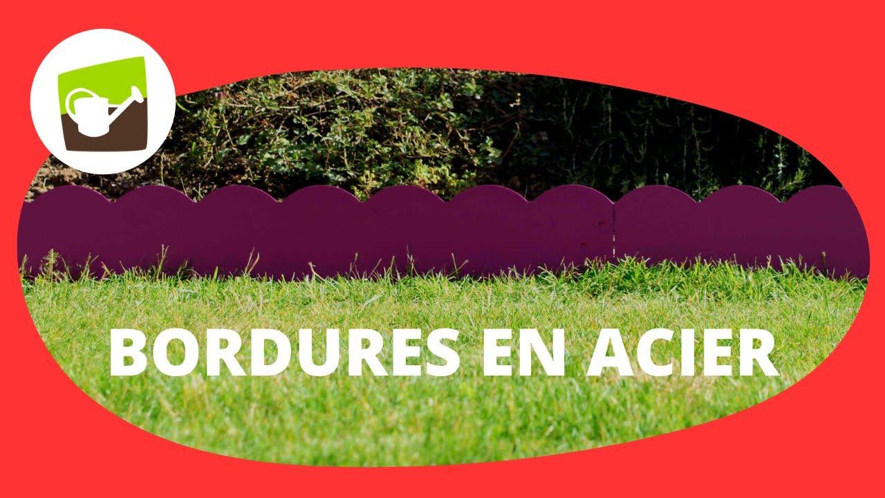 Comment Installer La Bordure De Jardin En Acier Peint Et Ondulée 1,17M  Fushia Et Gris Anthracite ? encequiconcerne Bordure De Jardin En Acier Galvanisé