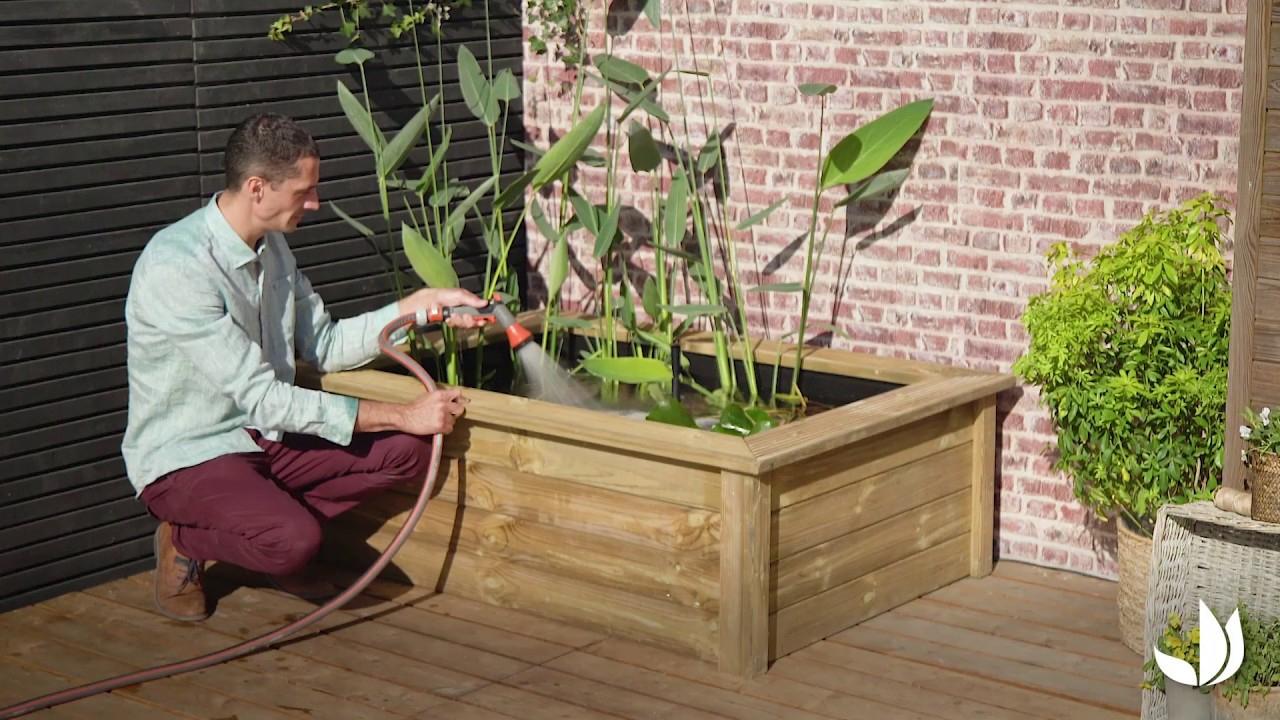 Comment Installer Un Bassin Hors Sol ? - Jardinerie Truffaut Tv avec Bassin De Jardin Hors Sol