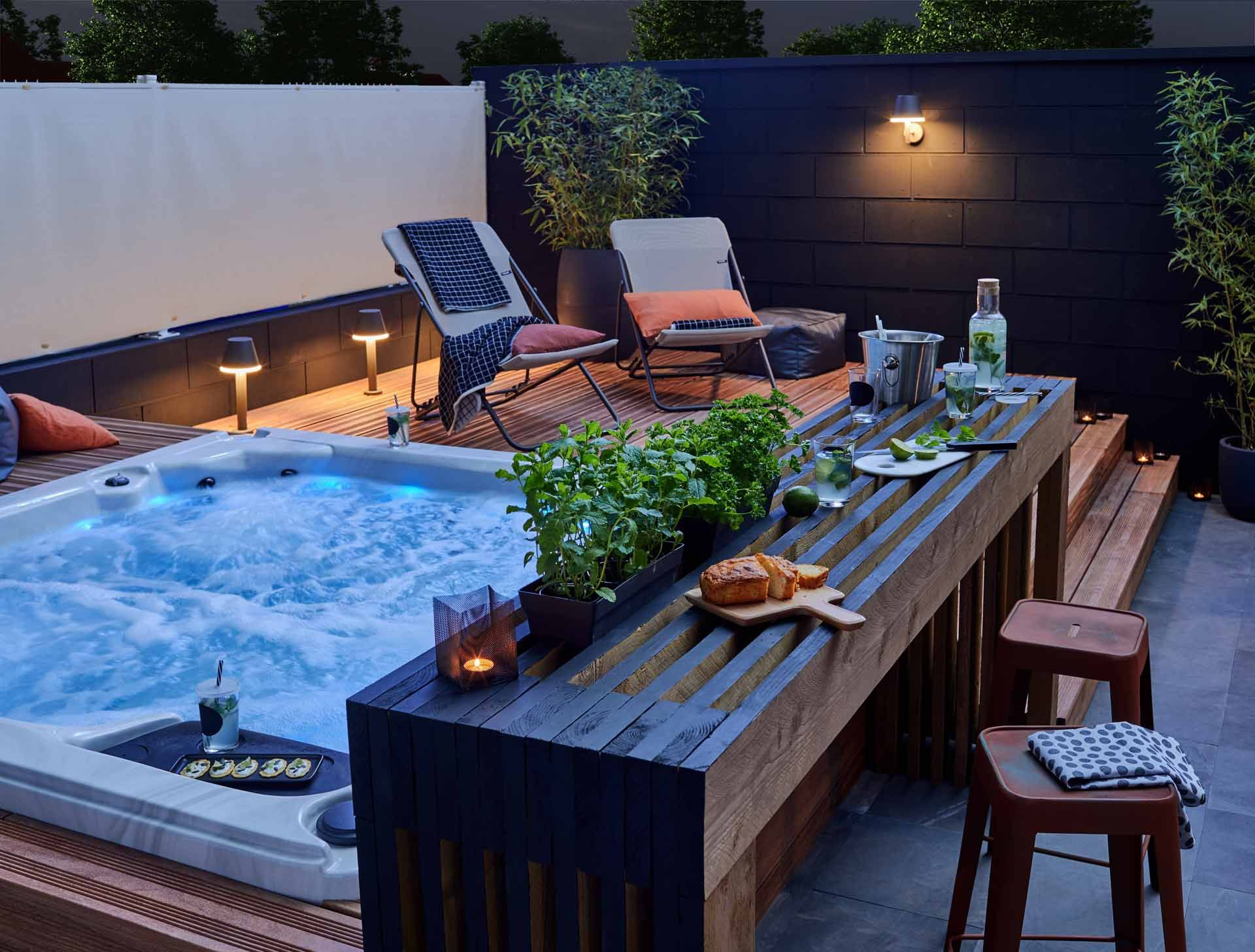 Comment Installer Une Cuisine Extérieure D'été ?   Jardin ... à Aménagement Jardin Avec Spa