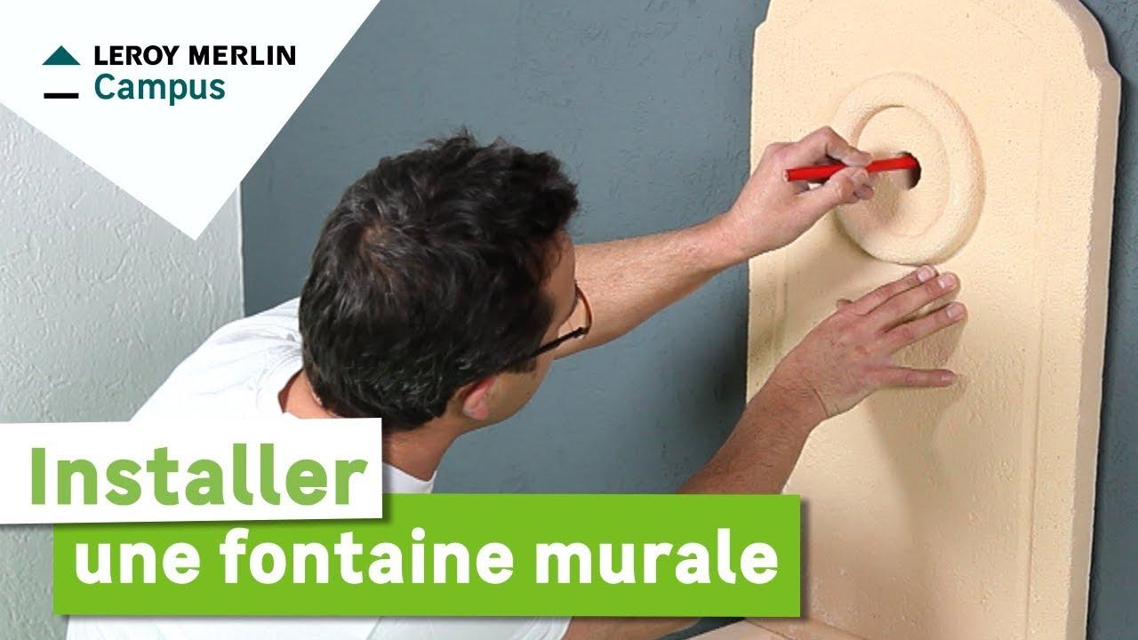 Comment Installer Une Fontaine Murale ? Leroy Merlin concernant Installation Fontaine De Jardin
