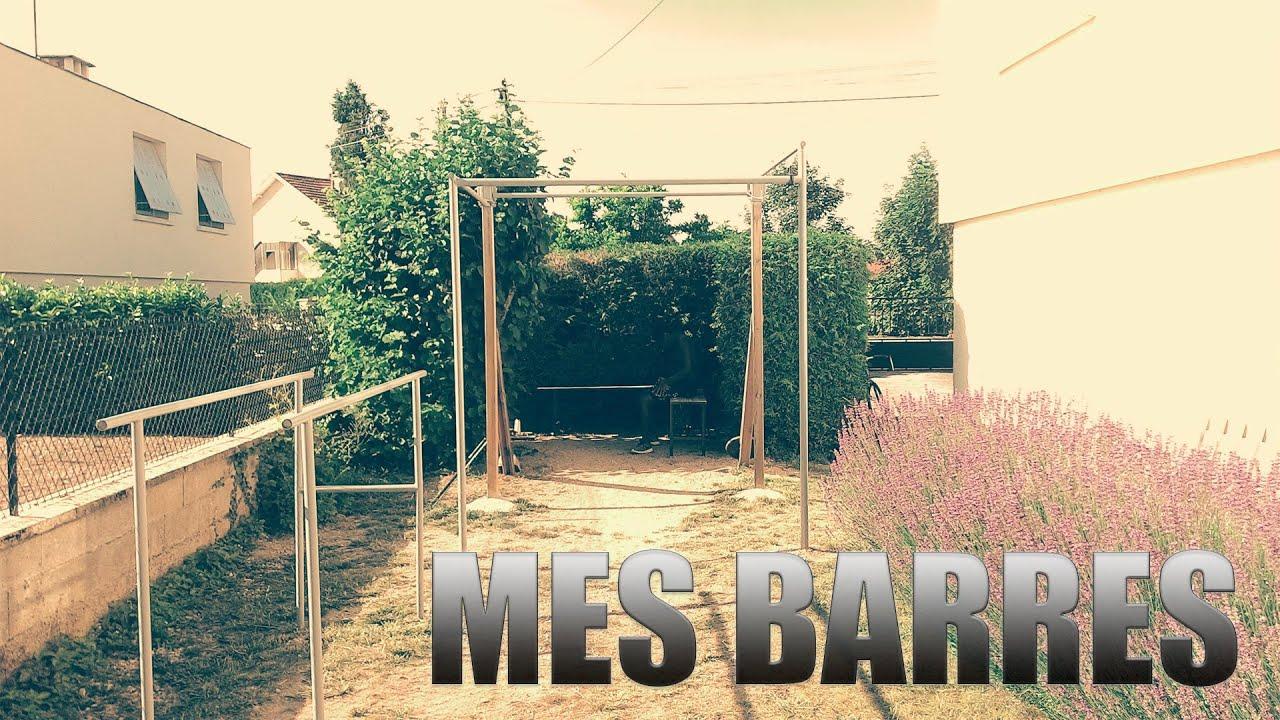Comment J'ai Fabriqué Mes Barres ? | Street Workout 21 dedans Barre De Traction Jardin