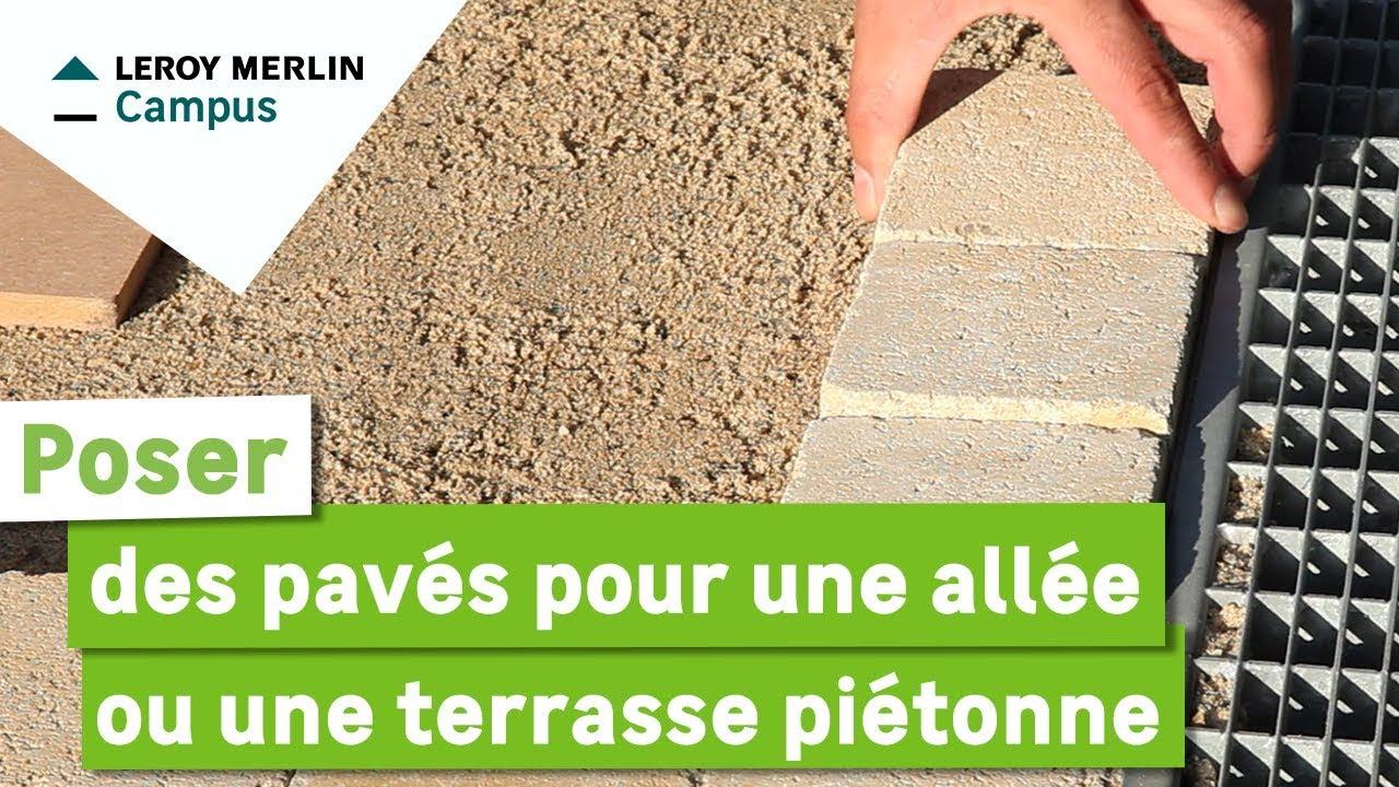 Comment Poser Des Pavés Pour Une Allée Ou Une Terrasse Piétonne ? serapportantà Bordure De Jardin En Ciment Leroy Merlin