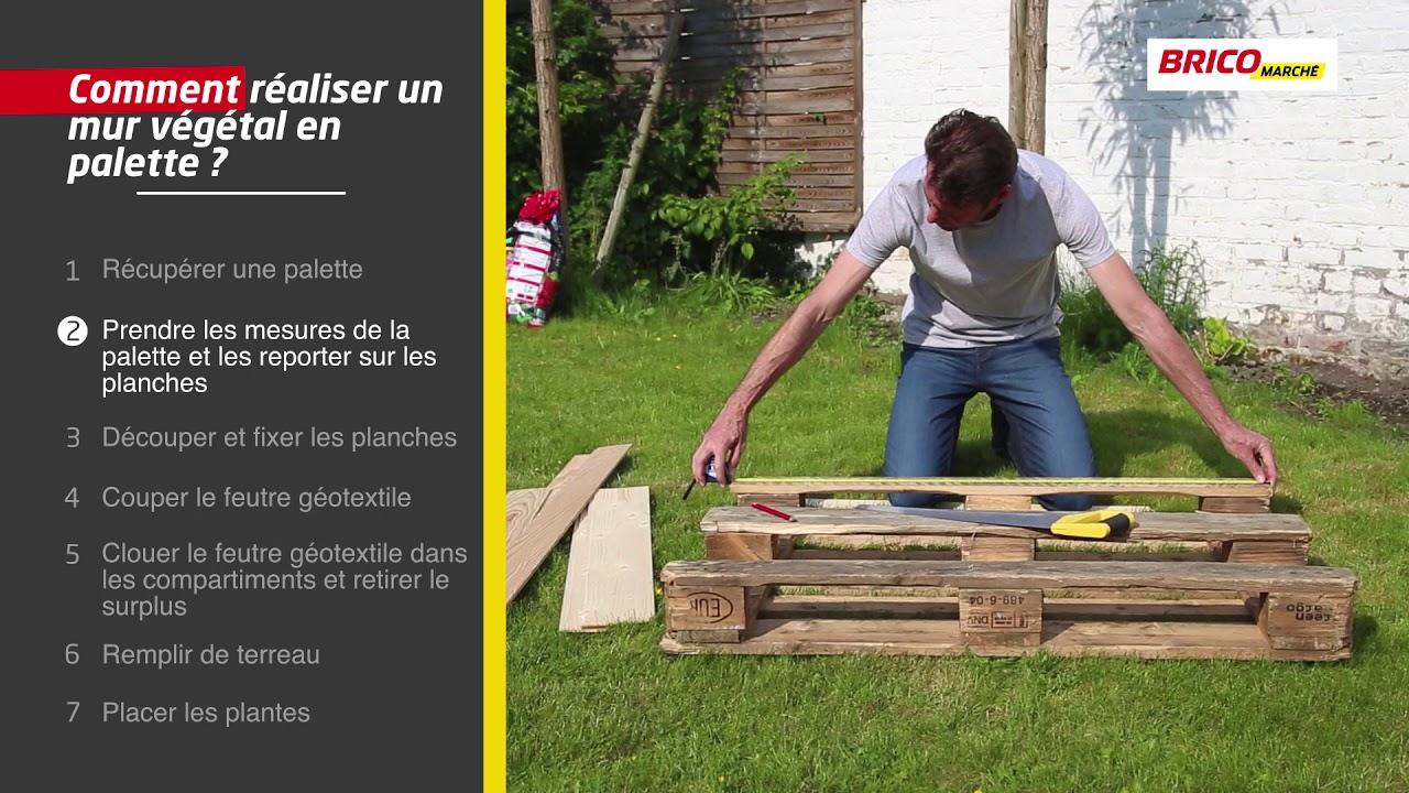 Comment Réaliser Un Mur Végétal En Palette ? (Bricomarché) avec Serre De Jardin Bricomarché