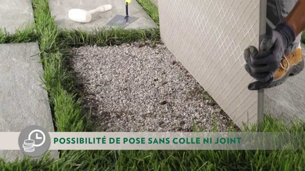 Comment Réaliser Une Pose Sur Pelouse - Novoceram Outdoor Plus pour Dalle Jardin Pas Cher