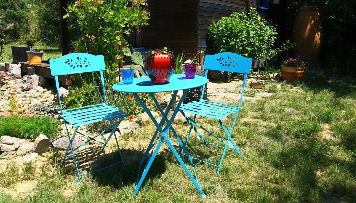 Comment Repeindre Un Salon De Jardin En Fer à Salon De Jardin En Fer Coloré