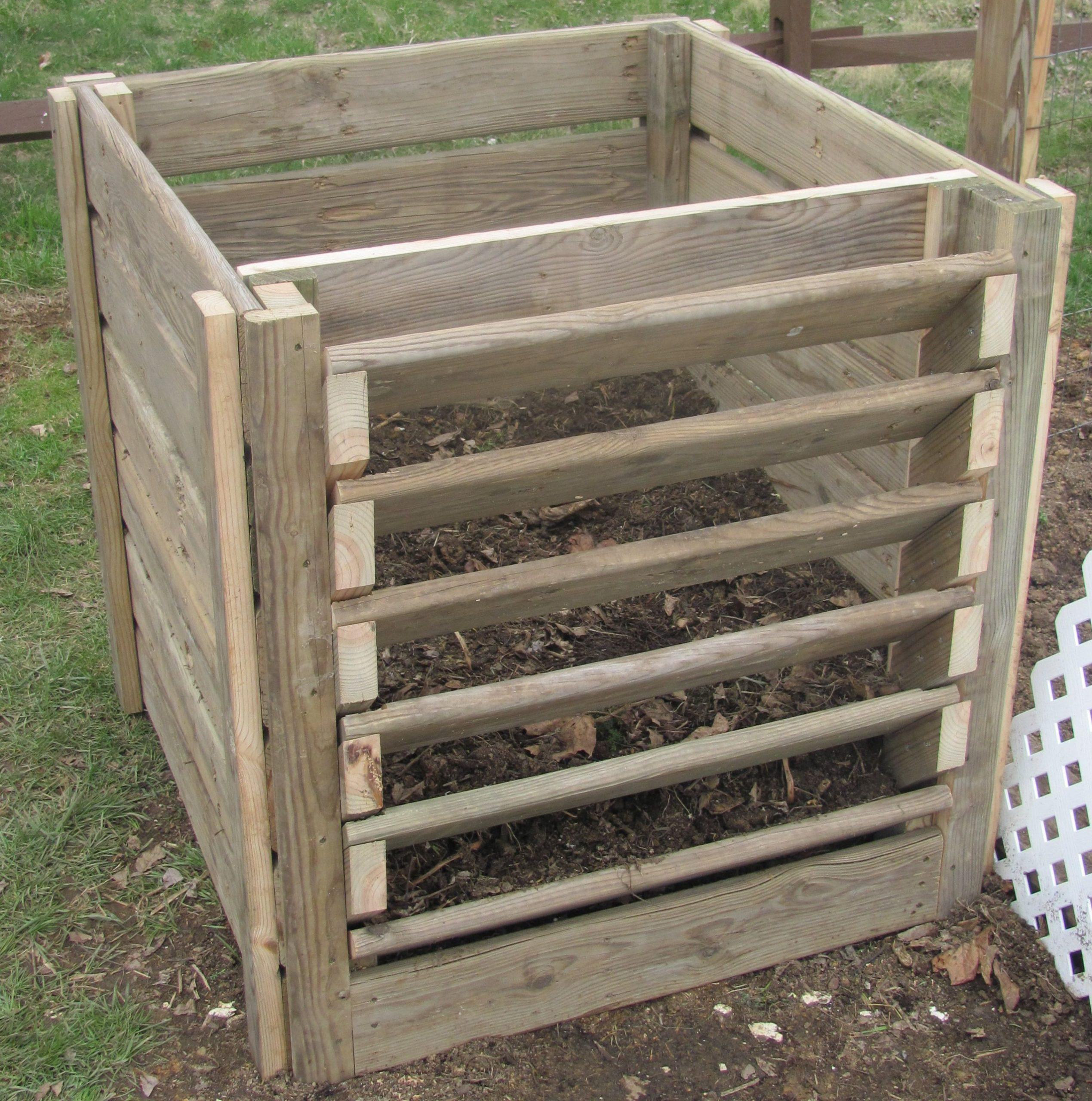 Compost Bin | Idées De Bricolage De Jardin, Composteur Et ... avec Composteur De Jardin