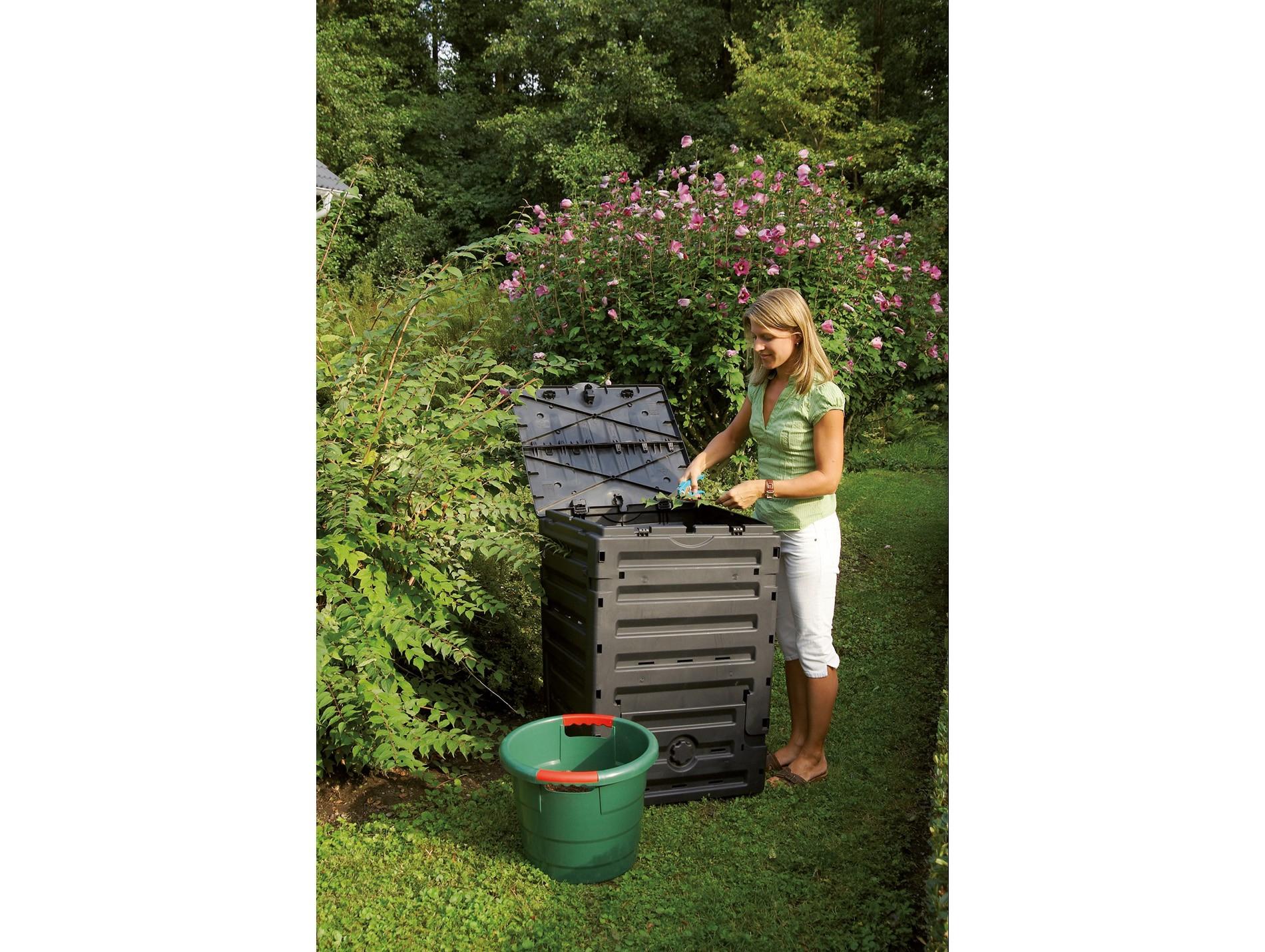 Composteur 300L Eco Master - Composteur, Incinérateur De ... encequiconcerne Incinérateur De Jardin