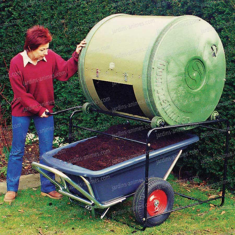 Composteur À Tambour Compartiment Simple - 650Litres ... dedans Composteur De Jardin