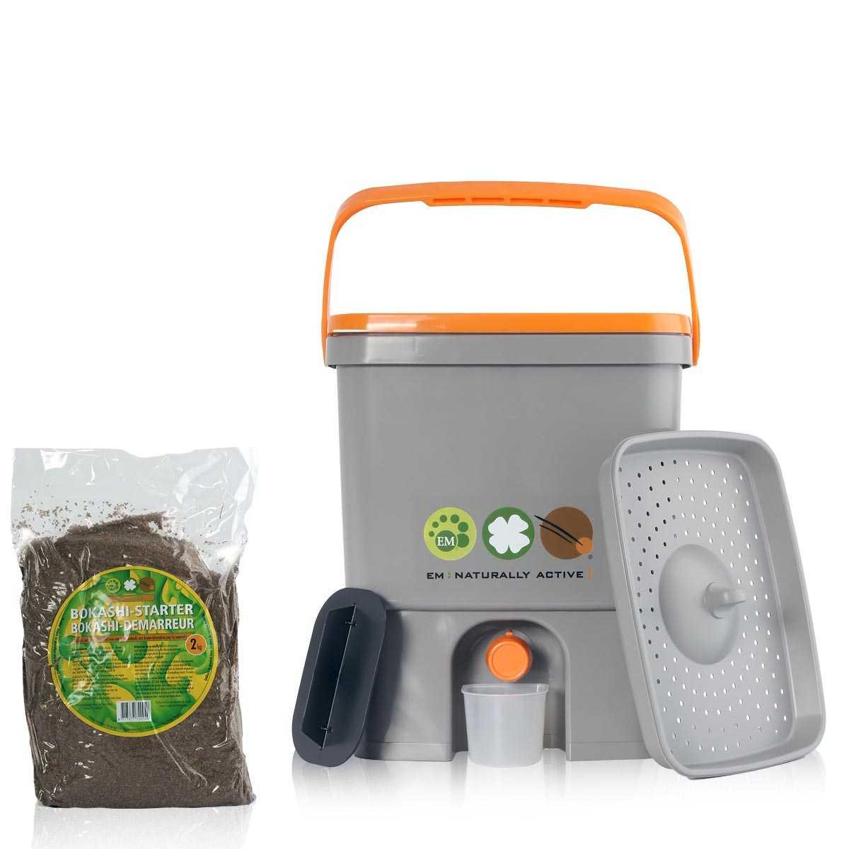 Composteur De Cuisine Bokashi & Micro Organismes concernant Composteur De Jardin