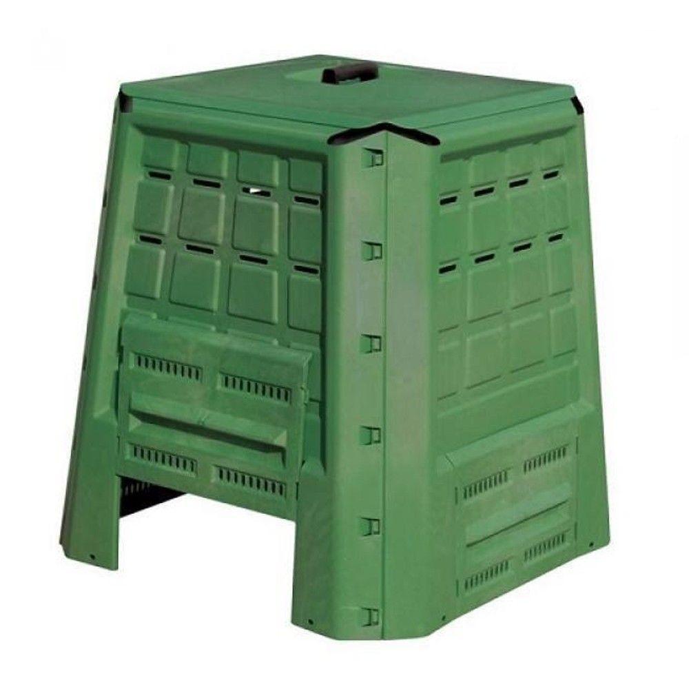 Composteur De Jardin En Plastique 370L 80X80Xh84 Cm Compost Déchets  Organiques pour Composteur De Jardin