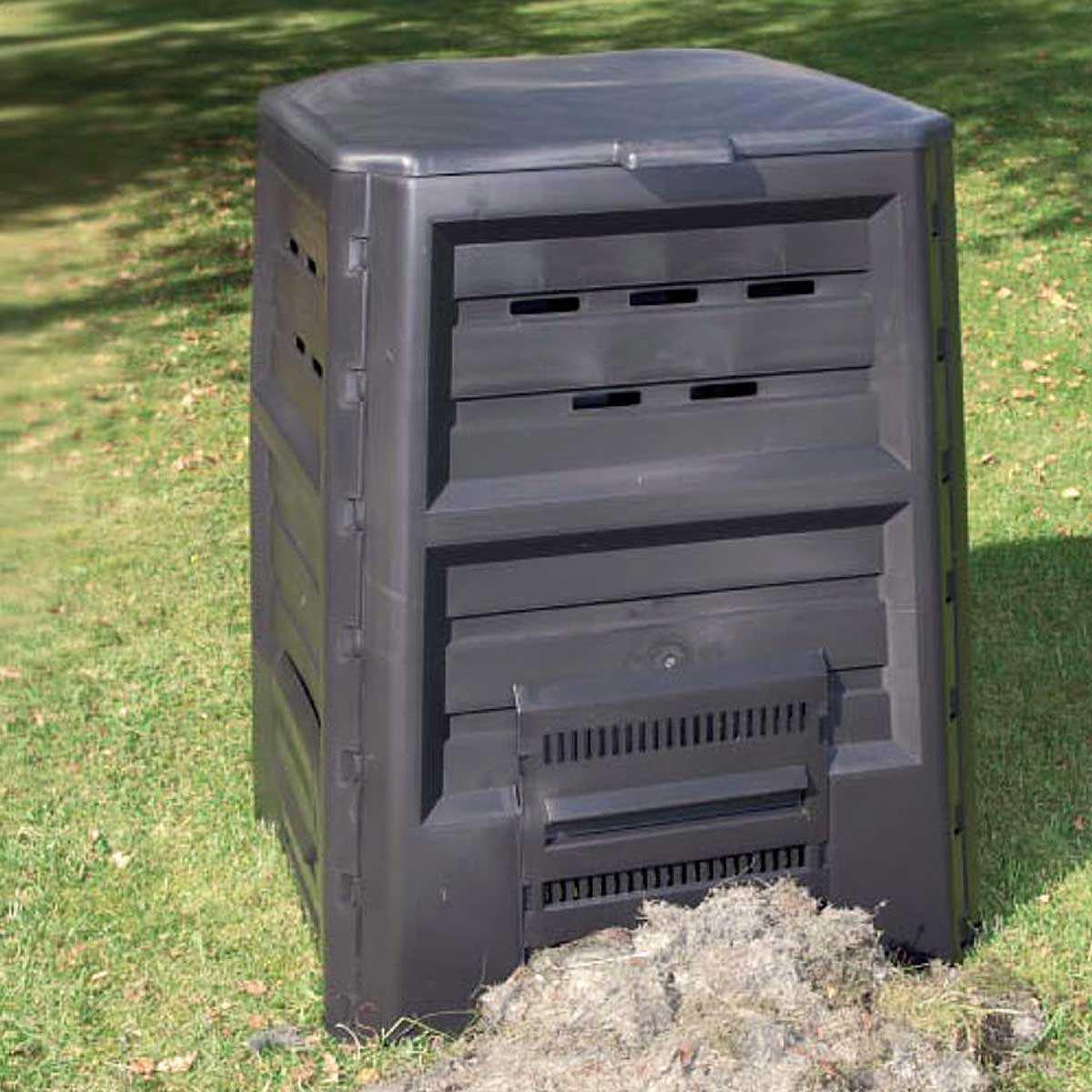 Composteur De Jardin En Plastique Recyclé 640L avec Composteur De Jardin