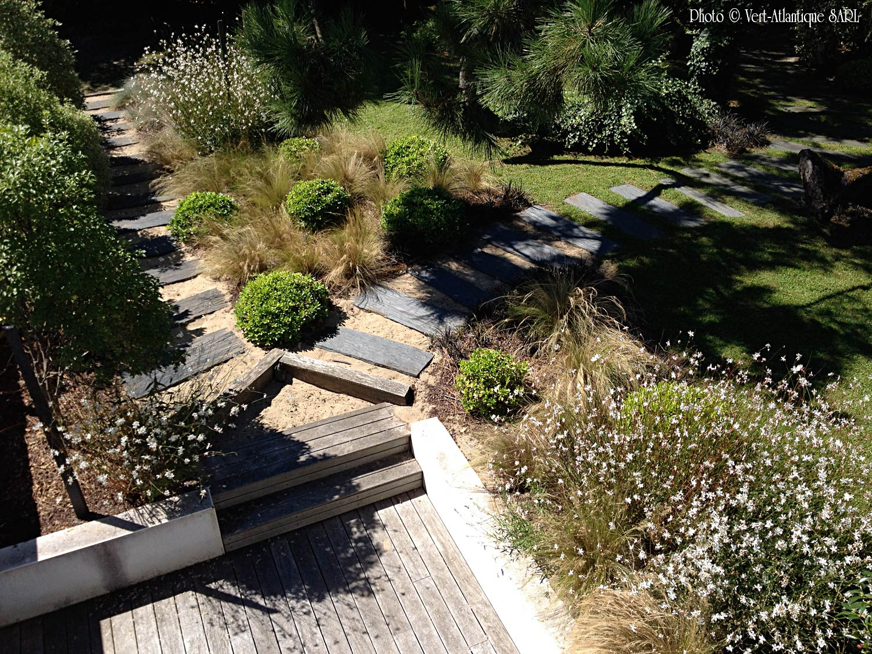 Conception De Jardin-Vert Atlantique dedans Amenagement Jardin Avec Graminees
