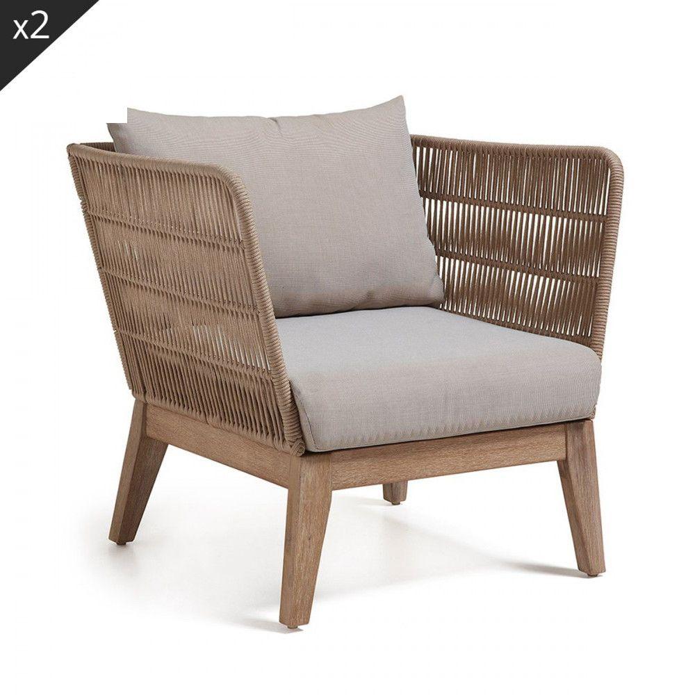 Confort Absolu Et Design Chic Terrasse Et Balcon Fauteuil ... à Fauteuille De Jardin