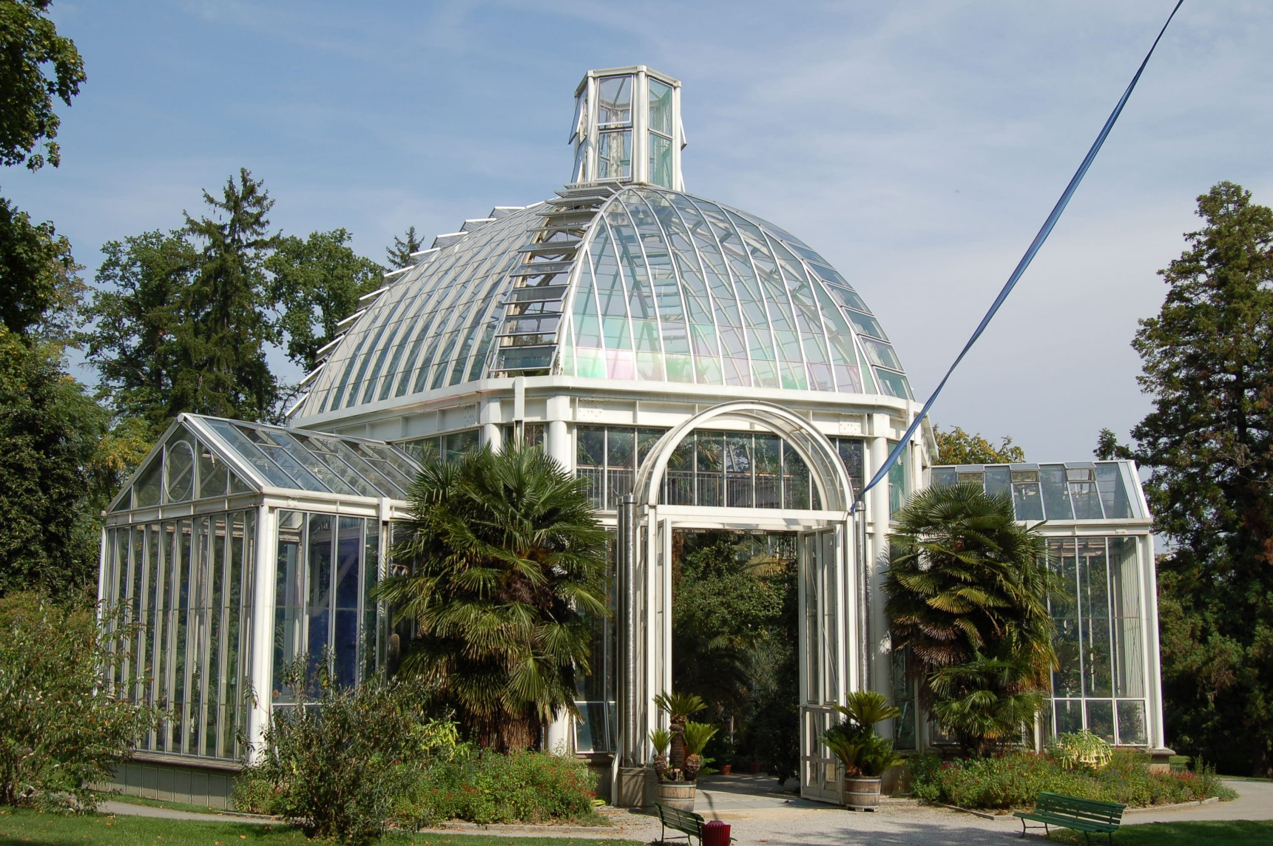 Conservatoire Et Jardin Botaniques De La Ville De Genève ... serapportantà Serre De Jardin Occasion