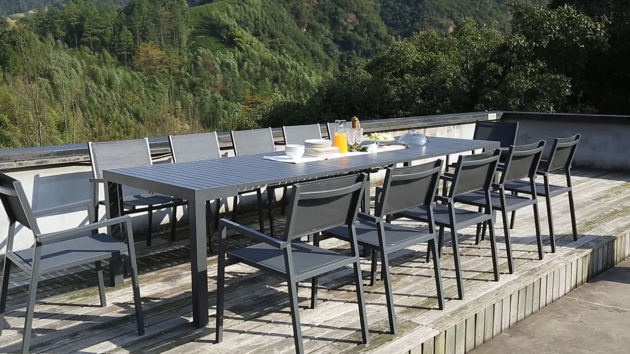 Console Extensible En Aluminium Olhao - Concept Usine concernant Salon De Jardin Polywood