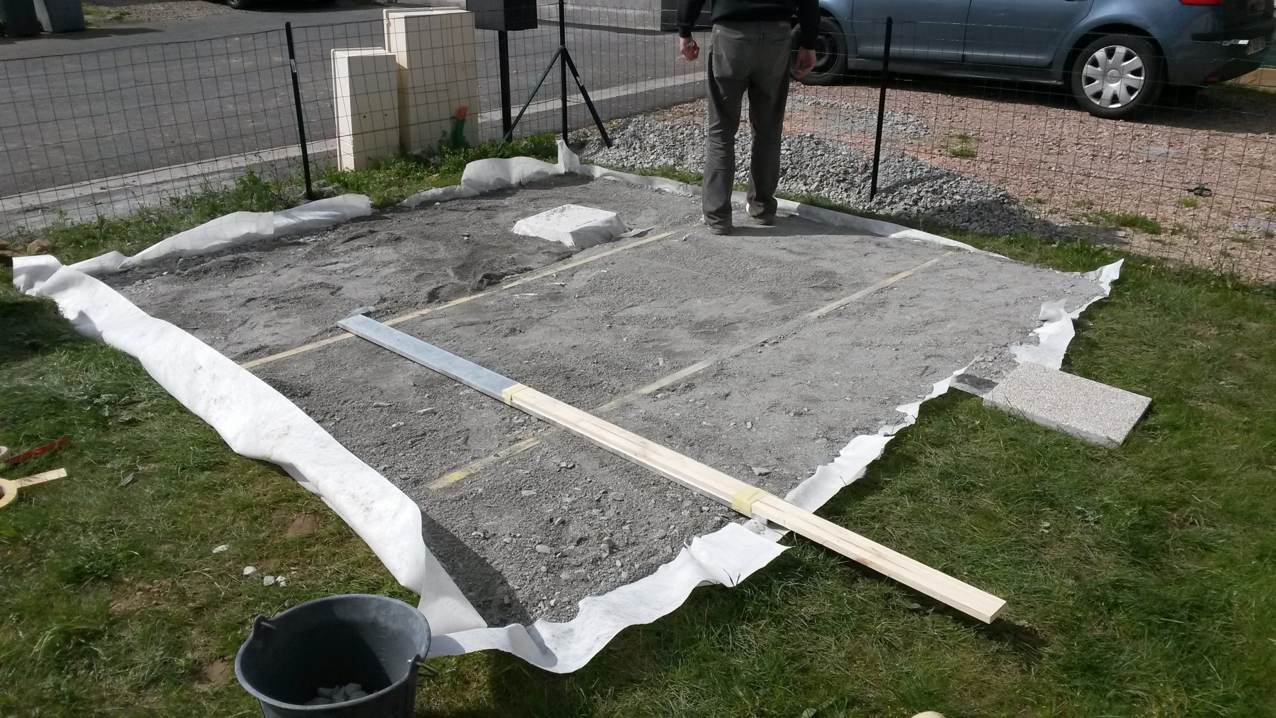 Construction De Notre Dalle Pour Abri De Jardin ... dedans Dalle Plastique Jardin