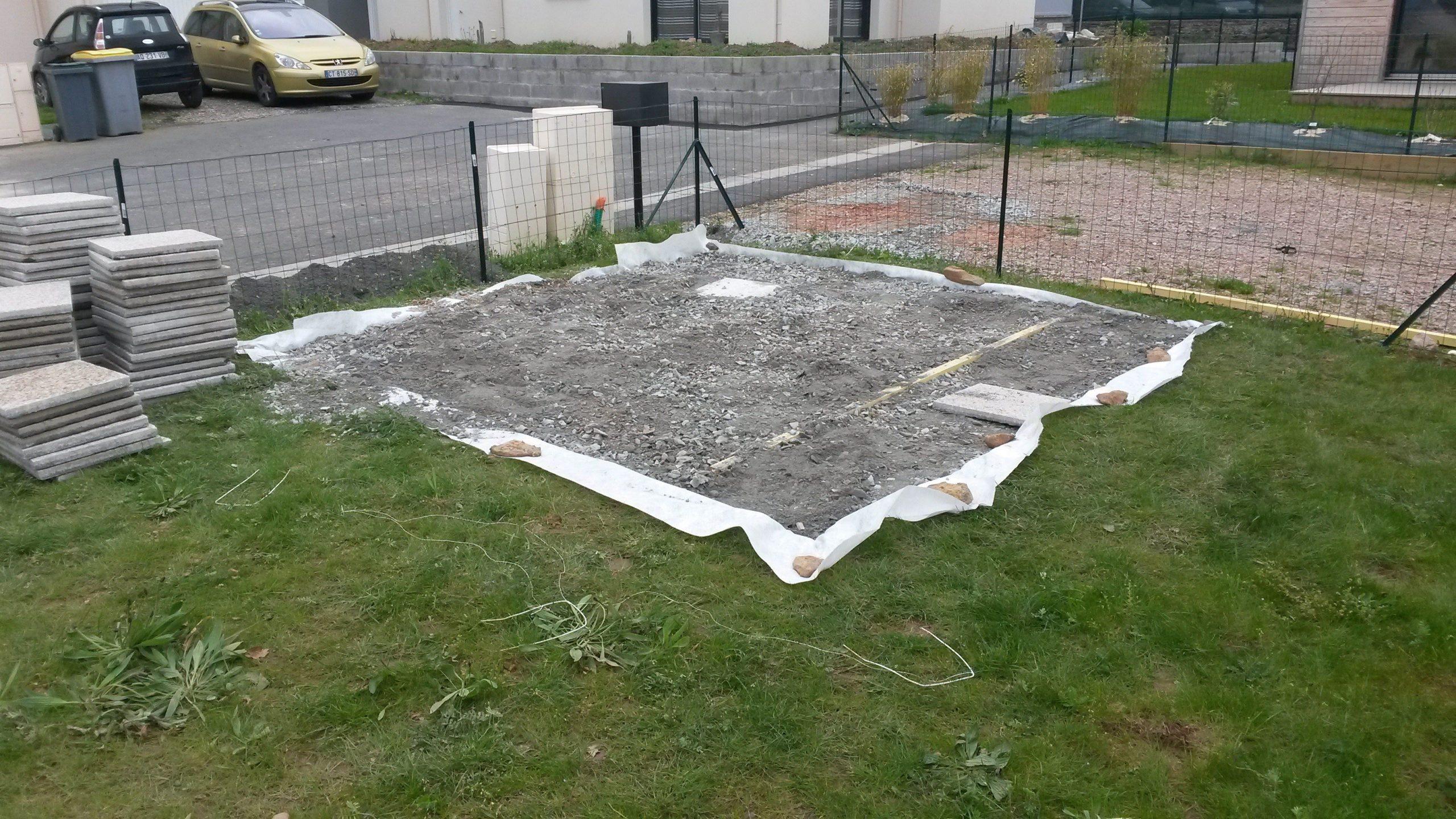 Construction De Notre Dalle Pour Abri De Jardin ... pour Pose Abri De Jardin Sur Dalle