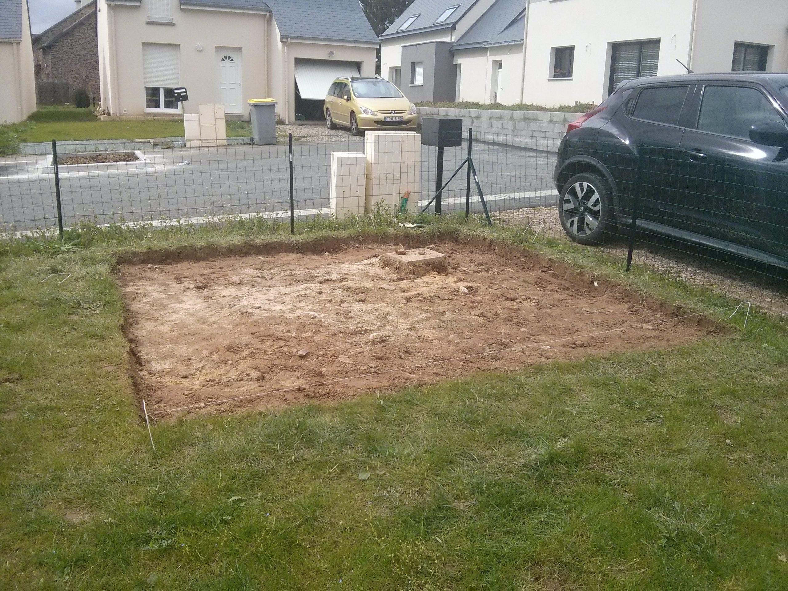 Construction De Notre Dalle Pour Abri De Jardin ... serapportantà Fondation Abri De Jardin
