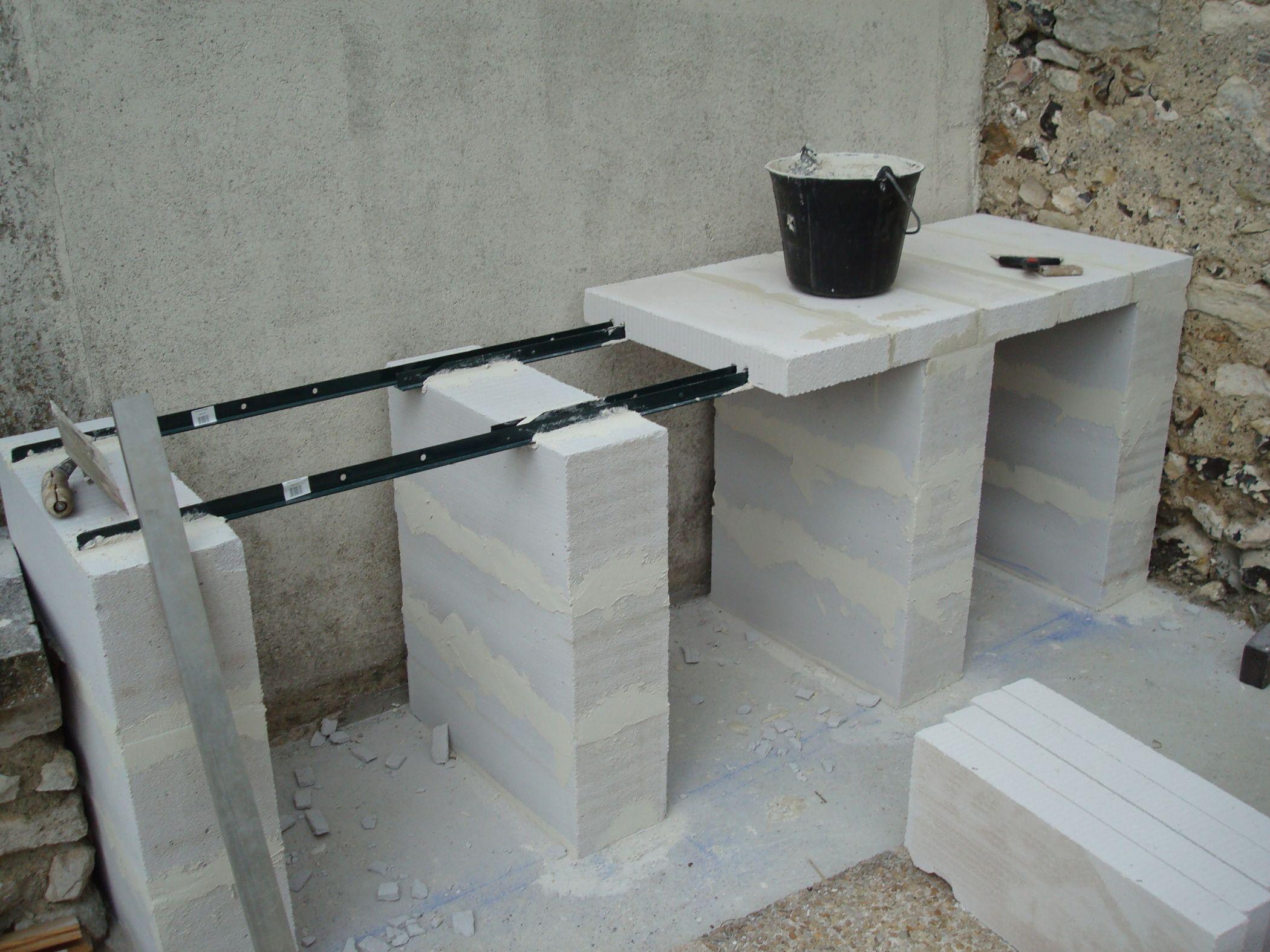 Construction D'un Barbecue Sur Mesure | Construire Un ... intérieur Abri De Jardin En Beton Cellulaire