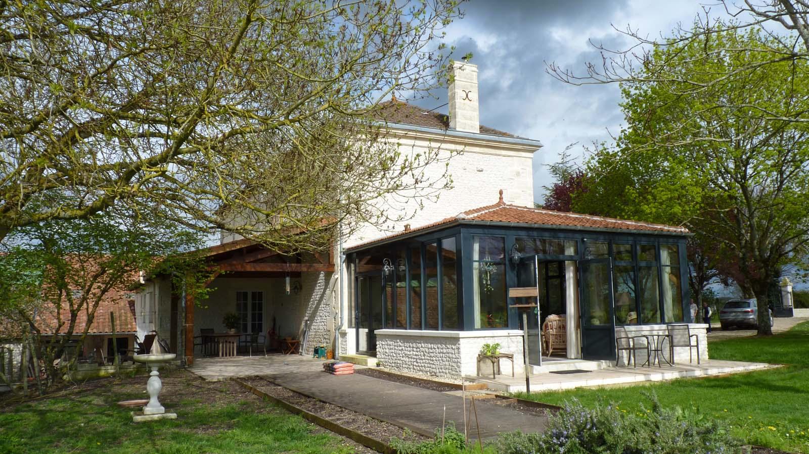 Construction D'un Jardin D'hiver Sur La Commune De Saint ... concernant Construire Jardin D Hiver