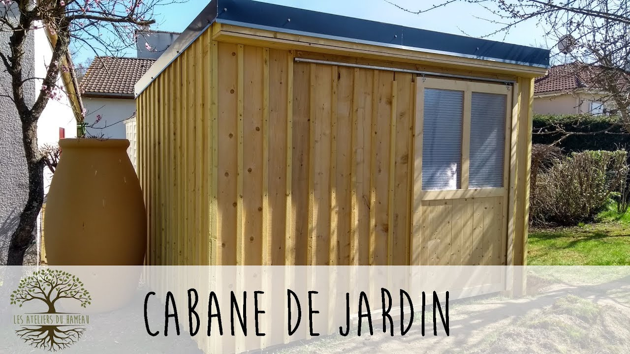 Construction D'une Cabane De Jardin avec Comment Construire Un Abri De Jardin
