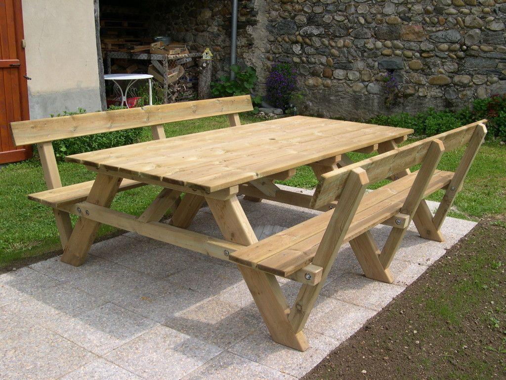 Construction D'une Table Pique-Nique | Asv850 | Diy Picnic ... intérieur Table De Jardin Pique Nique Bois