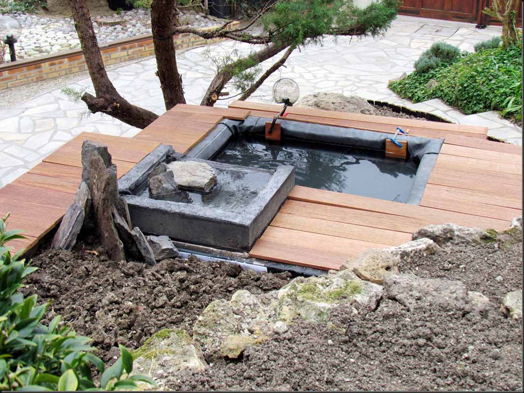 Construire Un Bassin Hors-Sol Avec Déversoir Dans Une ... encequiconcerne Construire Un Bassin De Jardin