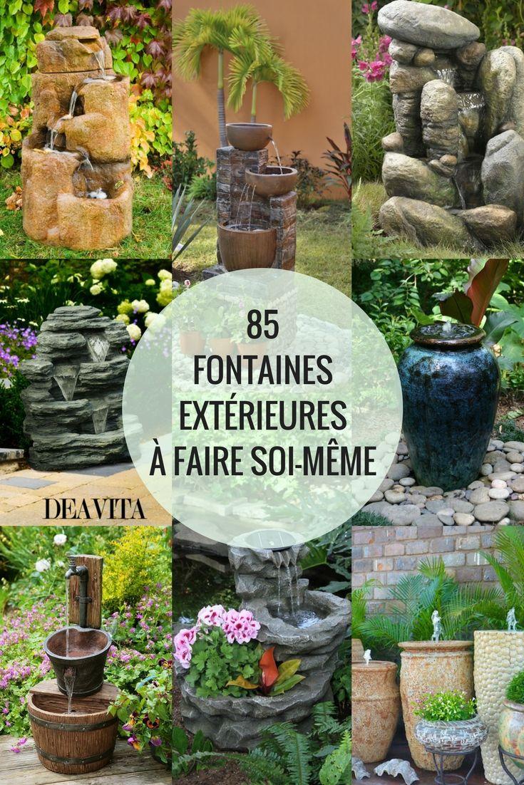 Construire Une Fontaine Extérieure Pour Apporter De L ... tout Fontaine Exterieure De Jardin Moderne