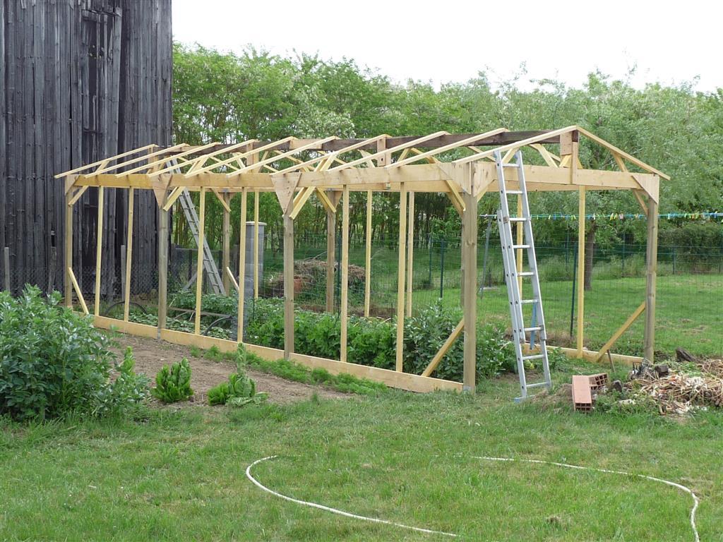 Construire Une Serre De Jardin En Bois - Retour D'expérience pour Construction D Une Serre De Jardin En Bois