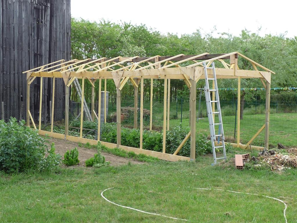 Construire Une Serre De Jardin En Bois - Retour D'expérience serapportantà Fabriquer Une Serre De Jardin