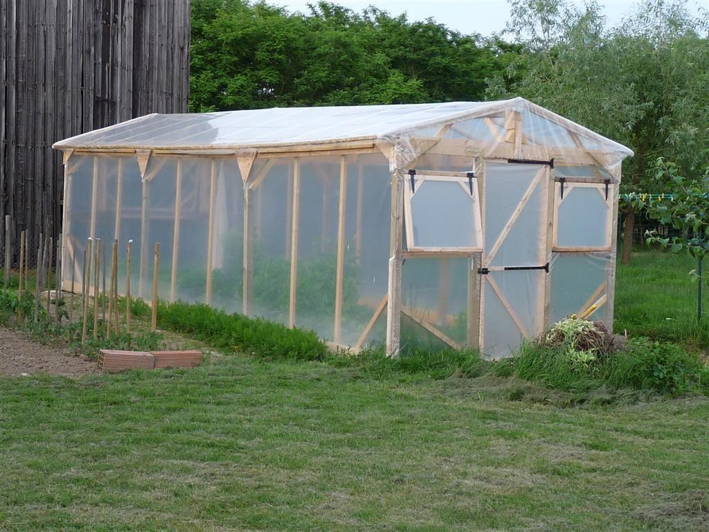 Construire Une Serre De Jardin En Bois - Retour D'expérience ... tout Construction D Une Serre De Jardin En Bois