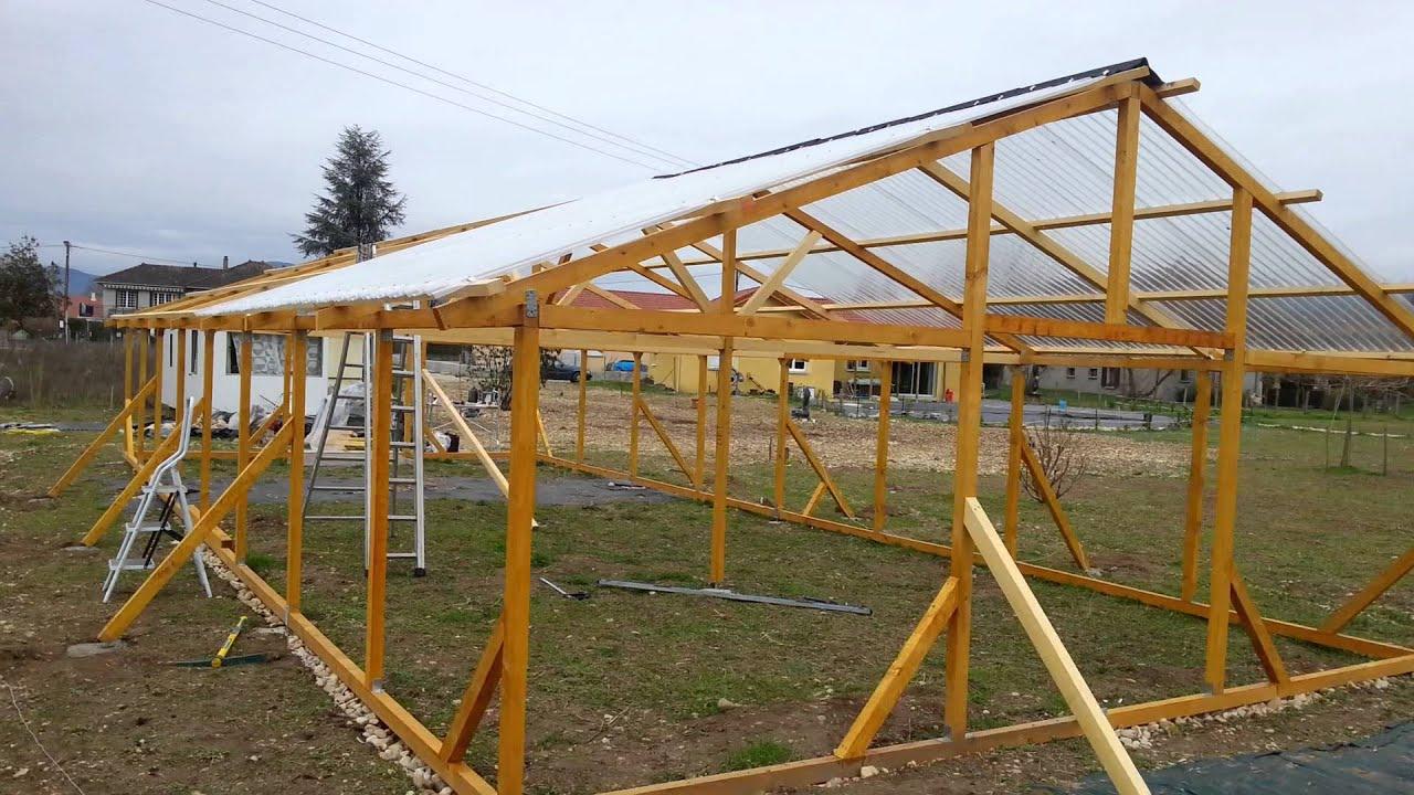 Construire Une Serre En Bois 3 destiné Construction D Une Serre De Jardin En Bois
